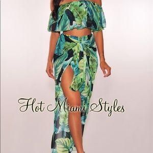 Hot Miami styles palm set